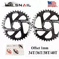 SNAIL Narrow Wide GXP Chainring 34/36/38/40T Direct Mount MTB Bike Chainwheel US
