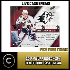2017-18 UPPER DECK SPX 10 (TEN) BOX FULL CASE BREAK #H007 - PICK YOUR TEAM -