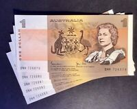 Australian Paper $1 Paper Note UnCirculated Condition. In Sequence X 5