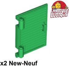 Lego - 2x window fenêtre volet Shutter poignée charnière vert/green 60800a NEUF