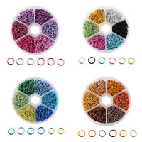1080pc/Box Aluminum Open Jump Rings 6-Color Kit Unsoldered Loop Findings 6x0.8mm