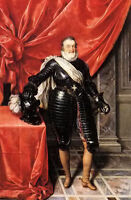 Oil painting Frans Pourbus the Younger - henry IV, king of france in armour ART