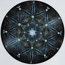 disc-mandala 5  / vinyl record mandala art handmade painting