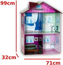 [ XXL Puppenhaus ] Puppenstube 99cm hoch, groß, Spielhaus für Puppen, Neu,