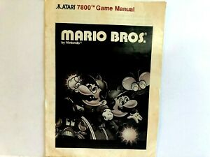 Mario Bros Atari 7800 MANUAL ONLY Authentic