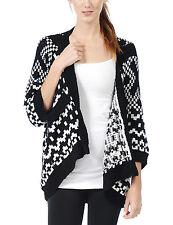 Women's Basic 3/4 Sleeve Knitted Open Drape Cardigan Sweater Jacket S,M,L