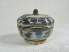 New listing Antique Sawankhalok Ceramic / Stoneware Tiny Covered Box from Thailand