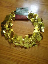 Holiday Time 25 Feet of Gold Bell Metallic Tinsel Garland 1 Inch Bells #19-1373