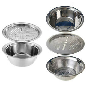 Kitchen Portable Multifunctional Stainless Steel Basin with Filter/Grater/Bowl A