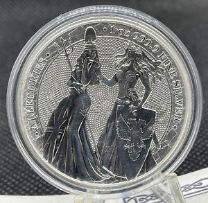 The Allegories Britannia & Germania 2019 5 Mark 1 oz Silver Coin