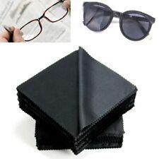 20Pcs Black Microfiber Sunglasses Cleaning Cloth 13cm Eyeglass Clean Lens Fibers