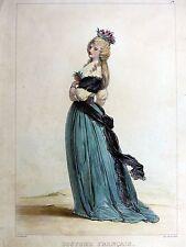 Lithographie Achille Devéria COSTUME FRANÇAIS (1792) Cattier c1840/50 RÉVOLUTION