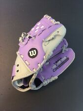Wilson 10� Lavender/grey youth T-ball glove - A0200 Cat 10 - Gently Used.