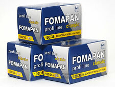 Fomapan 100 Cheap Black & White Film 35mm 36 Exp 3 Rolls Expiry Date 10/2020