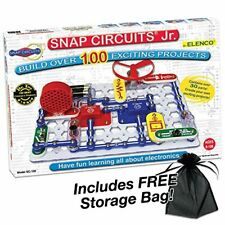 Elenco Electronic Snap Circuits, Jr. Kit with Free Storage Bag