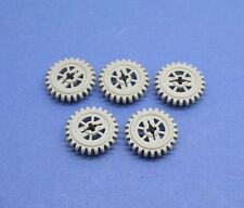 5x Lego Technic Zahnrad neu-hell grau z20 Zahnräder Zähne Pin Loch 4558690 87407