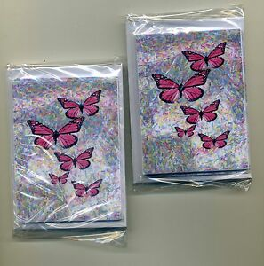2 Pks OF [12] 5 PINK BUTTERFLY MINI GIFT NOTELETS {FREE P&P} by SELF-REP' ARTIST
