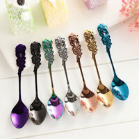 Upscale Utensils Vintage Coffee Tea Spoon Ice Cream Scoops Rose Stainless Steel