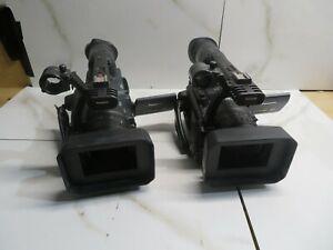 LOT OF 2 Panasonic AG-HVX200P P2 MiniDV Camcorder (READ)