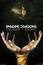 IMAGINE DRAGONS - SMOKE + MIRRORS POSTER - 22x34 MUSIC BAND 15229