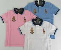 Ralph Lauren Boys S/S Big Pony Crest Solid Mesh Polo Shirt Sz 5 6 7 NEW NWT $50