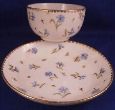 Antique 18thC Nyon Porcelain Cup & Saucer Porzellan Tasse Swiss Switzerland