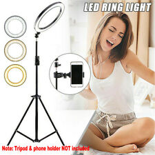 LED Ring Light Lamp Selfie Camera Phone Studio Stand Photo Video Dimmable