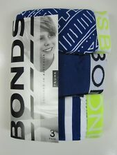 Bonds Boys Kids 3 Pack Cotton Trunks Underwear Sizes 8 10 12 14 Colour Multi 14 - 16