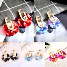 Chic Womens Acrylic Round Ear Stud Dangle Drop Statement Earrings Jewelry Gift