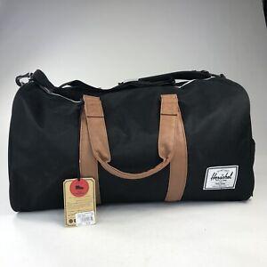 New Herschel Supply Co Signature Shoe Compartment Novel Black Duffle Bag