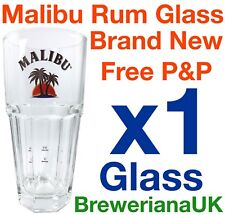 Single Malibu 37cl Glass Brand New 100% Genuine Official 2+4cl Measure Lines
