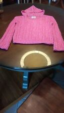 justice hooded sweater for girls youth size 16 pink