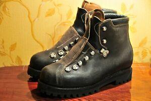 Raichle / Bally Vintage Swiss Army Mountain Hiking Boots, Sz 26.5