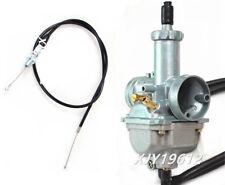 Carburetor & Throttle Cable For Kawasaki Bayou 220 250 KLF220 KLF250A