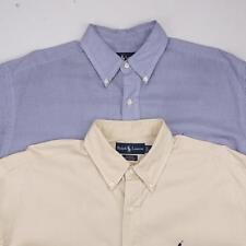 RALPH LAUREN LOT of 2 Blake Button Front Dress Casual Shirt Long Sleeve Mens L