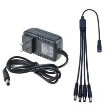 12VDC 2A Power Supply & 4 Way Split CCTV Security Camera Q-See Night Owl Zmodo