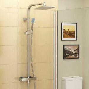 Shower Dual Shower Head Belfry Sepik Thermostatic 200mm Polished Chrome NEW (K)