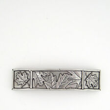 Danforth Pewter Hand Crafted Maple Leaf Classic Hair Barrette