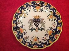 Antique French Faience Hand Painted Plate Desvres n Quimper, ff381 GIFT QUALITY!