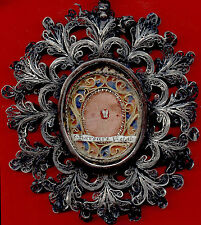 antique relic theca silver filigree S.BARBARAE V.M. 18Th.