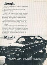 1974 Mazda Rx-4 Coupe Original Advertisement Print Art Car Ad J674