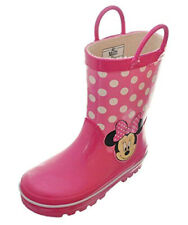 New Disney Minnie Mouse Pink Rain Boots Girls Toddlers Polka Dots Size US 9/10