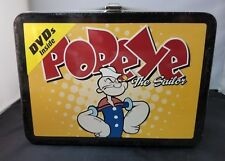 TIN POPEYE THE SAILOR LUNCHBOX WITH TWO CARTOON DVDs