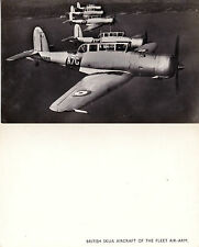 BRITISH SKUA AIRCRAFT OF THE FLEET AIR ARM UNUSED PHOTOGRAPH POSTCARD