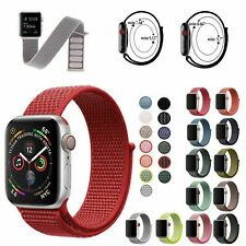 Sport Nylon Woven Loop Bracelet Watch Band Strap For Apple iWatch series 5 4 3 2