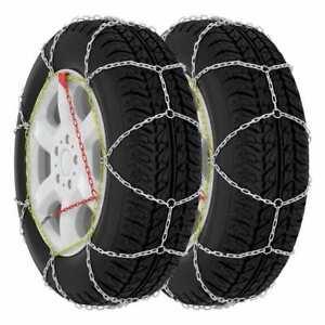 vidaXL 2x Car Tyre Snow Chains 9 mm KN100 Car Maintenance Winter Essential
