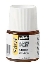 Pebeo Vitrail Glass Painting Glitter Medium 45ml Bottle