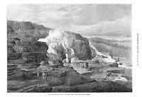 Mammoth Hot Springs  -  Gardiner's River -  Yellowstone, North America - 1874
