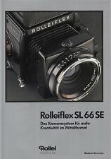 Rollei Prospekt für Rolleiflex SL66E/SL66