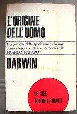 L ORIGINE DELL UOMO Levoluzione Franco Paparo Charles Darwin Editori Riuniti di